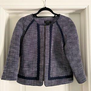 J Crew Blue Tweed Blazer size 12